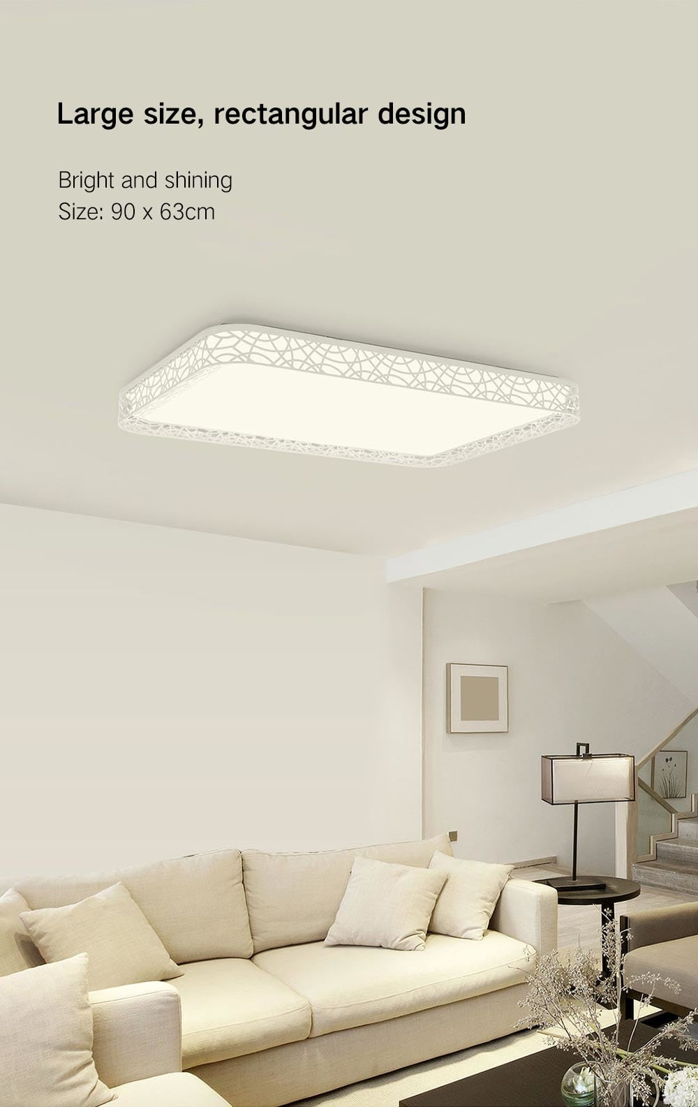 Yeelight YILAI YlXD07Yl Rectangle Style Hollow Ceiling Light Pro for Home- White