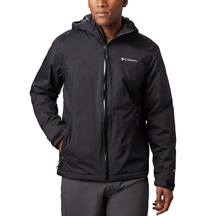 Columbia Men's Top Pine Insulated Rain Jacket, Black, X-Large